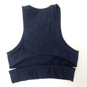 Outdoor Voices Tops - Outdoor Voices Navy Slashback Cut Out Crop Top - S